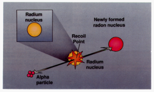 Figure 1. Radon gives off alpha particles, which can contribute to oxidative stress.